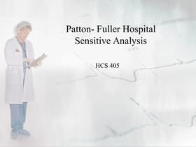 hcs 405 week 5 health care case study sensitivity analysis Hcs 405 week 5 individual assignment, health care financial terms  team assignment, health care case study sensitivity analysis • resource:.