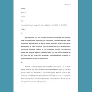 Organization Theory Design 11th Edition By Richard L Daft Isbn 10 1111221294 3092 Words 30 Off