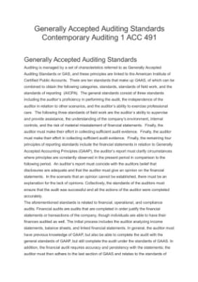 generally accepted auditing standards three categories Substandard government audits: are they  auditing standards fall into three categories:  audit conducted in accordance with generally accepted auditing.