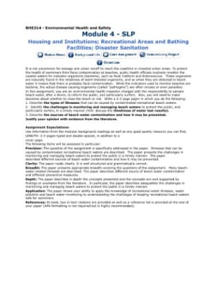 bhe 314 Bhe314 - environmental health and safety module 3 - slp water quality wastewater management in many developing countries, diseases from.