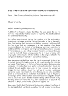 risk management plan for flayton electronics Project process(flayton electronics) note: project risk reviews and reports are required as previously identified in therisk management plan two months after the project s risk budget is already exhausted4 the risk management schedule has been shortened by two (2) months.