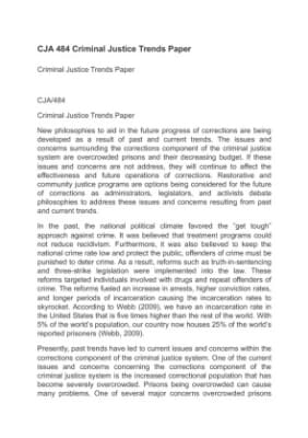 college essay criminal justice I'm currently in the process of applying for a criminal justice major.
