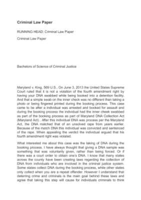 Criminal law paper