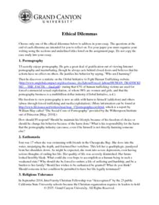 essays on ethical dilemmas in nursing