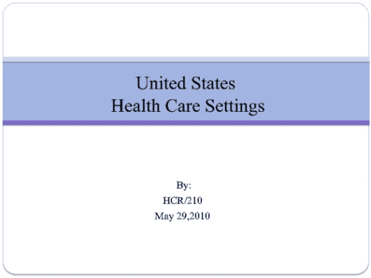 hcr 210 week 2 us health care settings Hcr/210 week 2 5,971 results, page 11 math do you think ambulatory care is changing society's view on health care why or why not math.