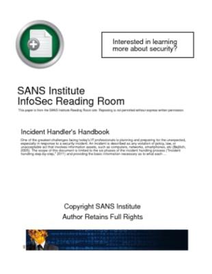 Incident Handlers Handbook