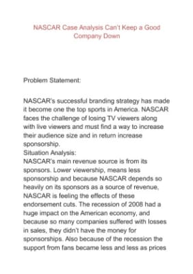 nascar case analysis Case study for search enginer optimization, seo service which nautech provides in nashua nh and boston ma optimized website of online nascar merchandise seller, pitroadmotorsportscom, with all the correct tags and metatags - submit website to directories, create backlinks, newsletters, forums and blogs.