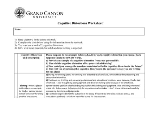 All Worksheets Cognitive Distortions Worksheets Free Printable – Cognitive Distortions Worksheet
