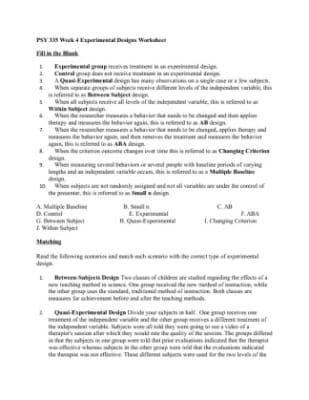 Worksheets Experimental Design Worksheet experimental design worksheet scientific method answer key delibertad