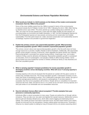 sci 256 environmental science and human population worksheet Sci 256 week 5 community sustainability proposal  sci 256 week 1 environmental science and human population worksheet $ 999 add to cart sci 256.