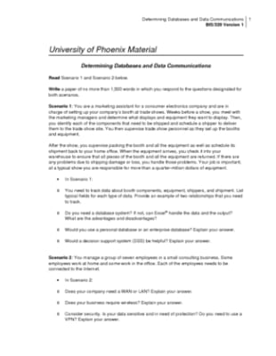 determining databases and data communication essay Determining databases and data communications determining databases and data from bis 320 320 at university of phoenix.