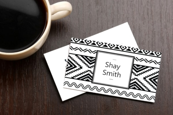 Business Card Black and White Design