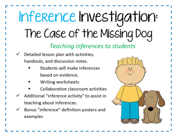 Inference Investigation: The Case of the Missing Dog
