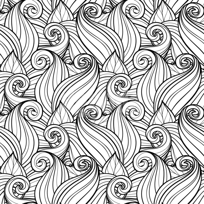 Adult Coloring Pages Abstract Designs (30% off)
