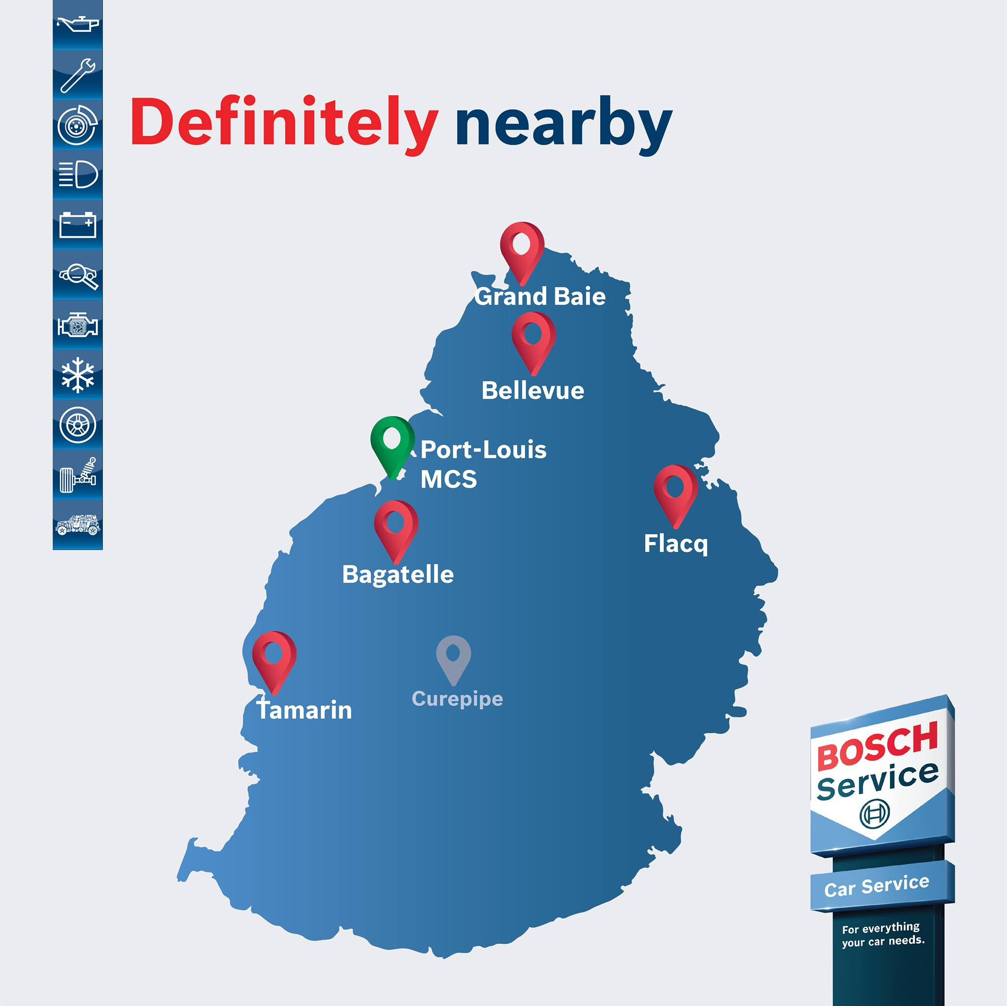 BOSCH MAURITIUS : Wherever you are, we are nearby.