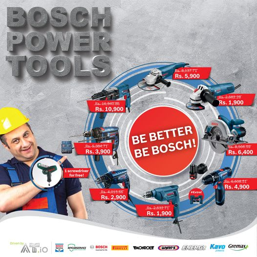 """In-House Exclusive BOSCH POWER TOOLS"""" super deal!"""