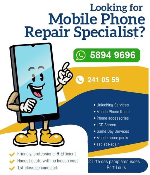 Mobile Phone Unlocking & repairs Mauritius