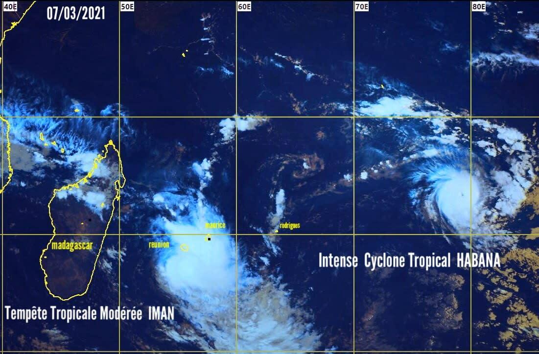 Le système n°14 est finalement devenu la tempête tropicale modérée IMAN, à 04hrs ce matin.