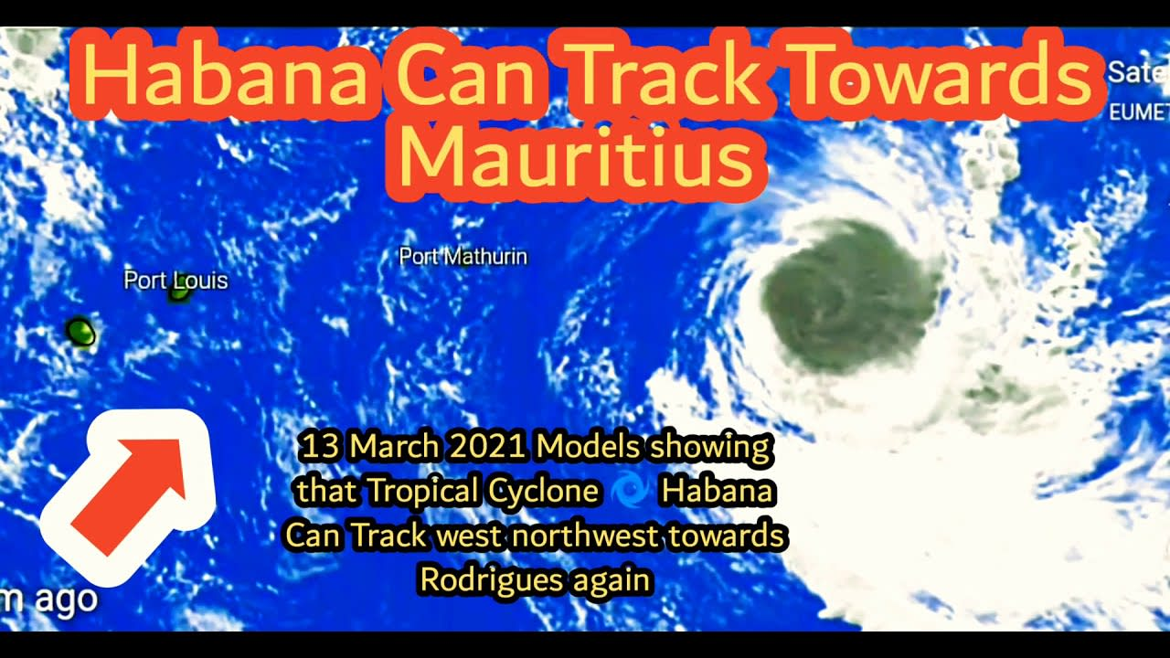 Habana​ Cyclone Can Change It's Track Towards Mauritius