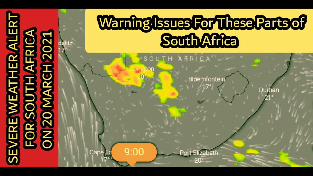Watch Severe Weather Alerts For South Africa On 20 March 2021