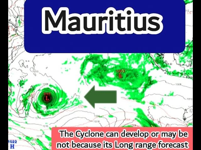Latest Gfs Update Of 22 March 2021 Showing A Severe Tropical Cyclone over Mauritius In April