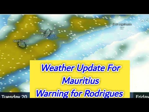 Special Weather Communique For Mauritius, Rodrigues   20~23 July 2021