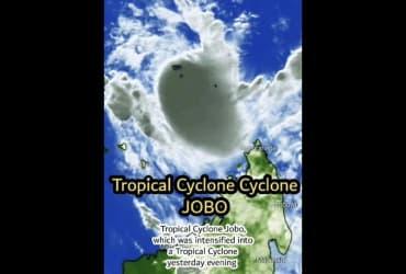 Tropical Cyclone Jobo Heading Towards Tanzania