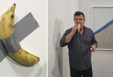 Man who ate $120,000 art banana said he would've done it sooner, but wasn't hungry yet