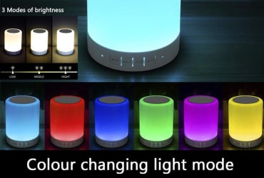 Touch Lamp, Night Light Bluetooth Speaker Portable Wireless