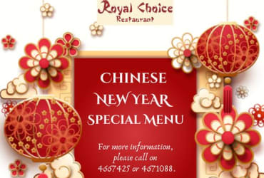 Royal Choice Restaurant Special Chinese New Year Menu is ready