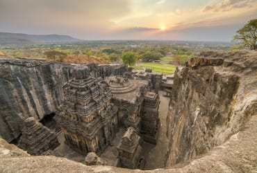 This Enormous 8th Century Temple in India Was Carved from One Rock
