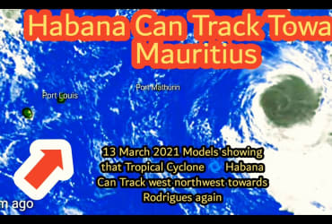 Habana Cyclone Can Change It's Track Towards Mauritius