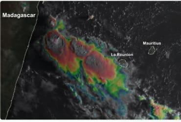 Dégradation pluvio-orageuse par conflit de masse d'air sur les Mascareignes