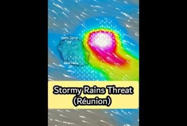Stormy Rains Threat For Réunion | 22 April 2021