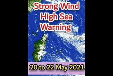 A Strong Wind And High Sea Warning In Force For Mauritius