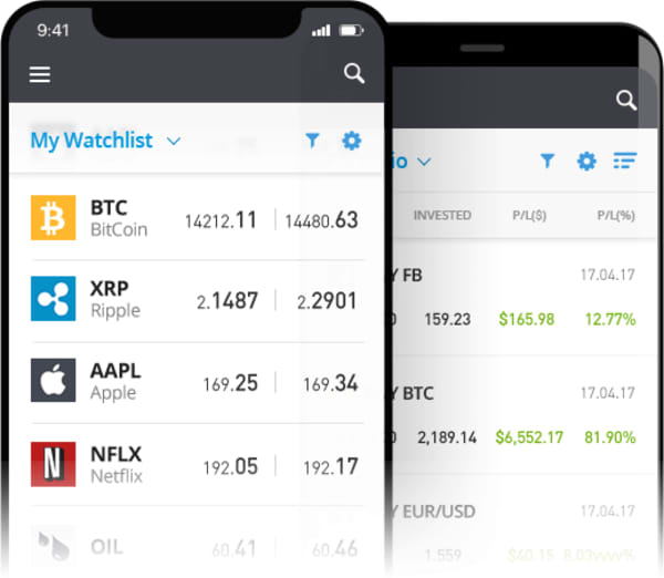eToro's mobile apps