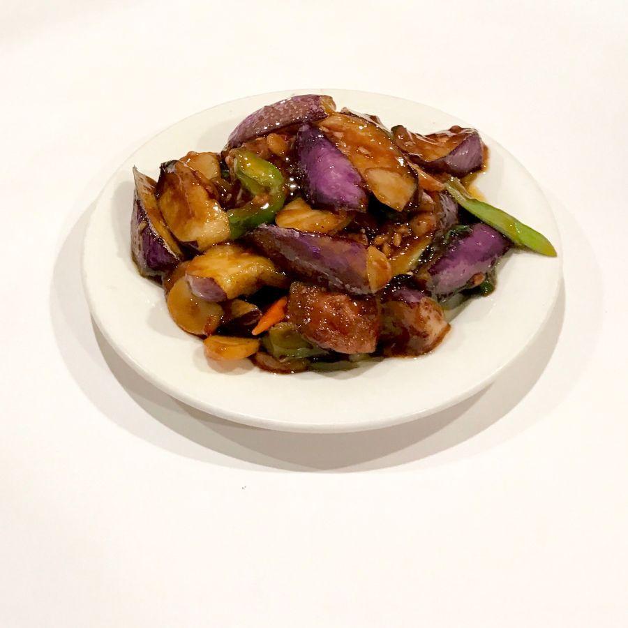 Szechuan Eggplant with Fried Tofu