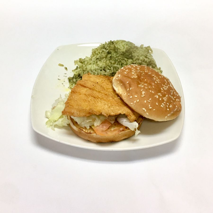 Fried White Trout Sandwich