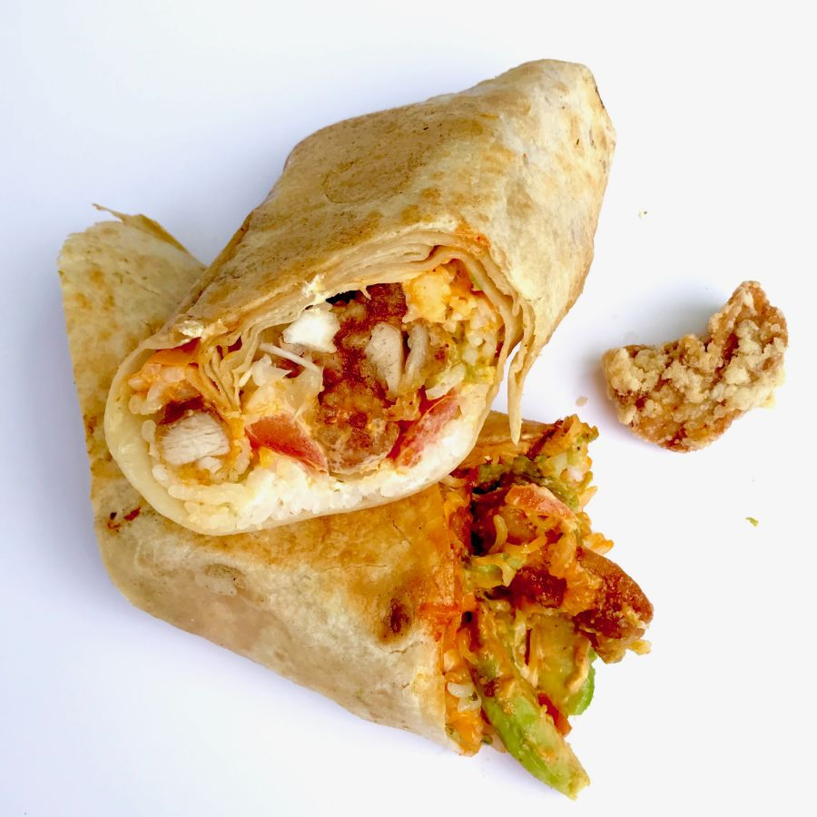 Karaage Burrito (Japanese fried chicken)