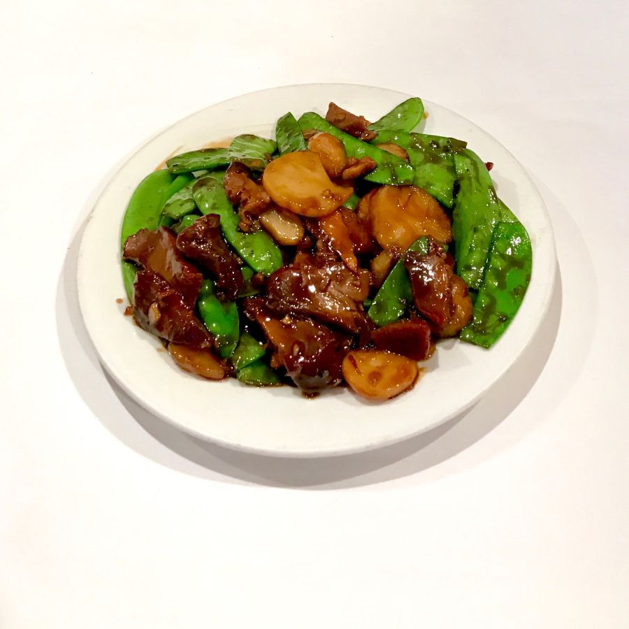 BBQ Pork with Snow Peas