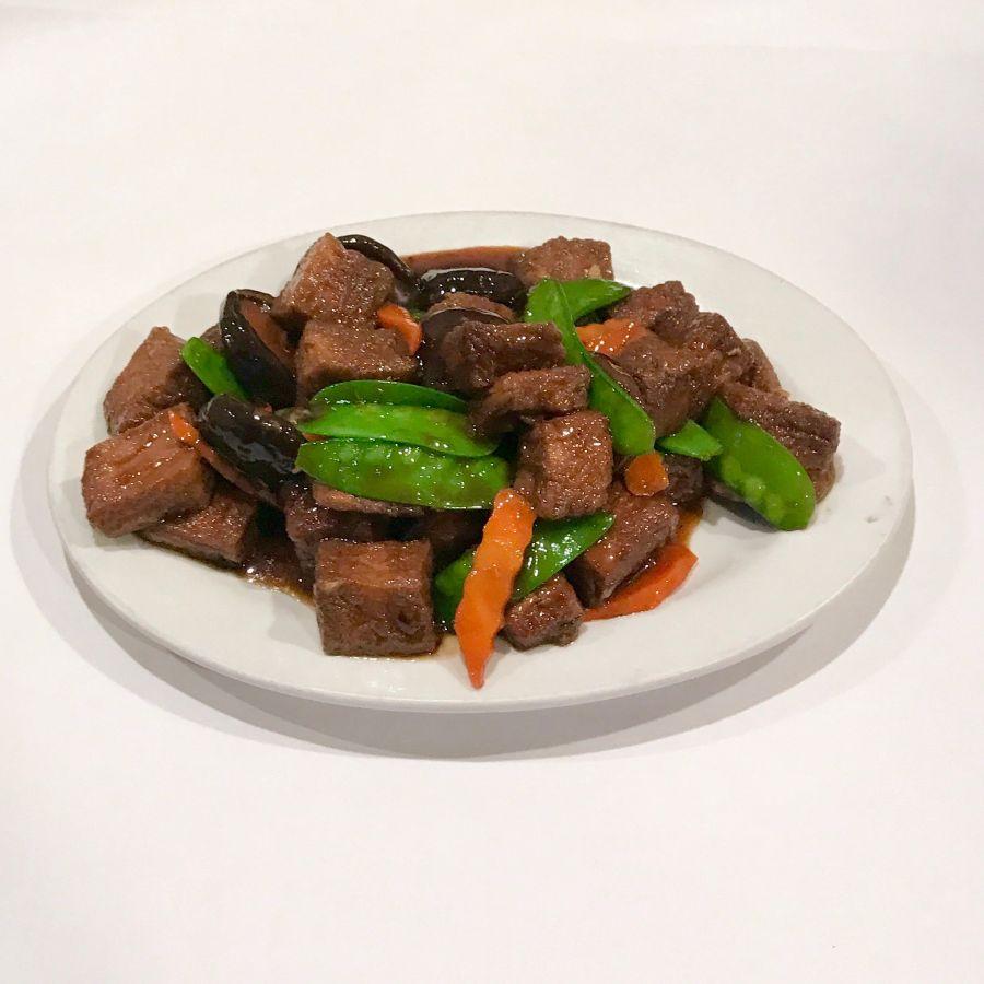 Chinese Black Mushroom and Fried Tofu