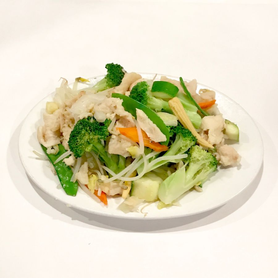 Steamed Chicken Vegetables