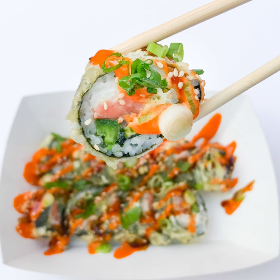 Creamy Smoked Salmon Tempura Roll