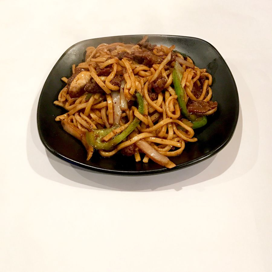 Black Pepper Beef Udon