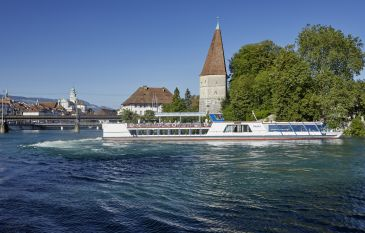 Time out on the Aare at La Couronne Hotel in Solothurn