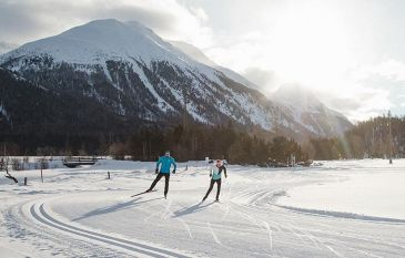 Engadine cross-country skiing at the Hotel Cresta Palace