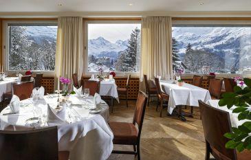Cuisine Rendezvous avec la Jungfrau et le Lauberhorn au Beausite Park Hotel Wengen