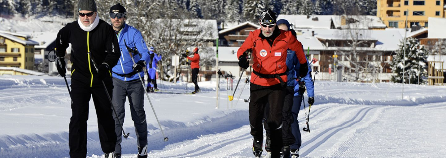 Cross-country skiing trial session - classic step Klosters