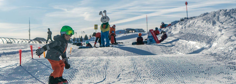 Erste Snowboard-Erfahrungen für Kinder, Bolgen Davos