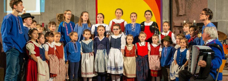Children jodel at Klosters